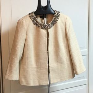 Women's blazer with beaded collar
